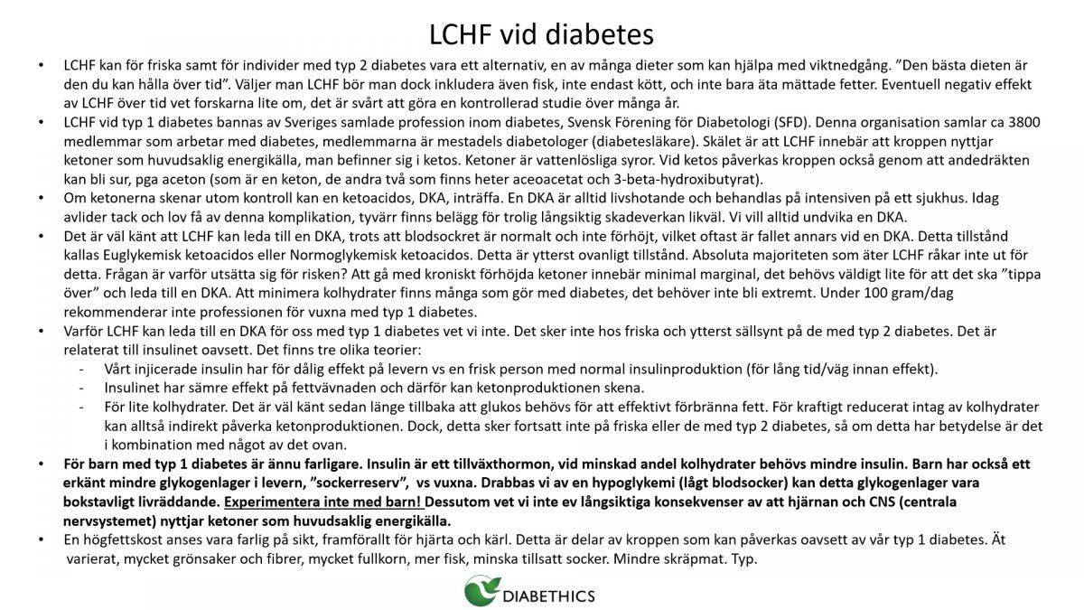 lchf diabetes socialstyrelsen i estocolmo
